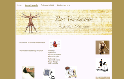 website kinesist - osteopaat Bart Van Laethem